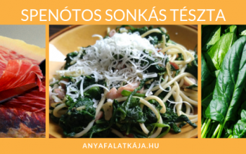 Spenótos sonkás tészta – gyors tavaszi ebéd